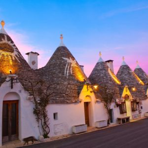Fantastisches Abendlicht in Alberobello