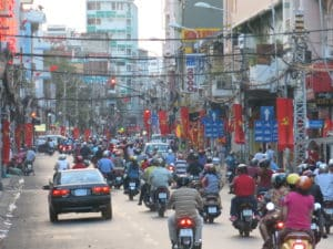 Verkehr in Ho-Chi-Minh-City