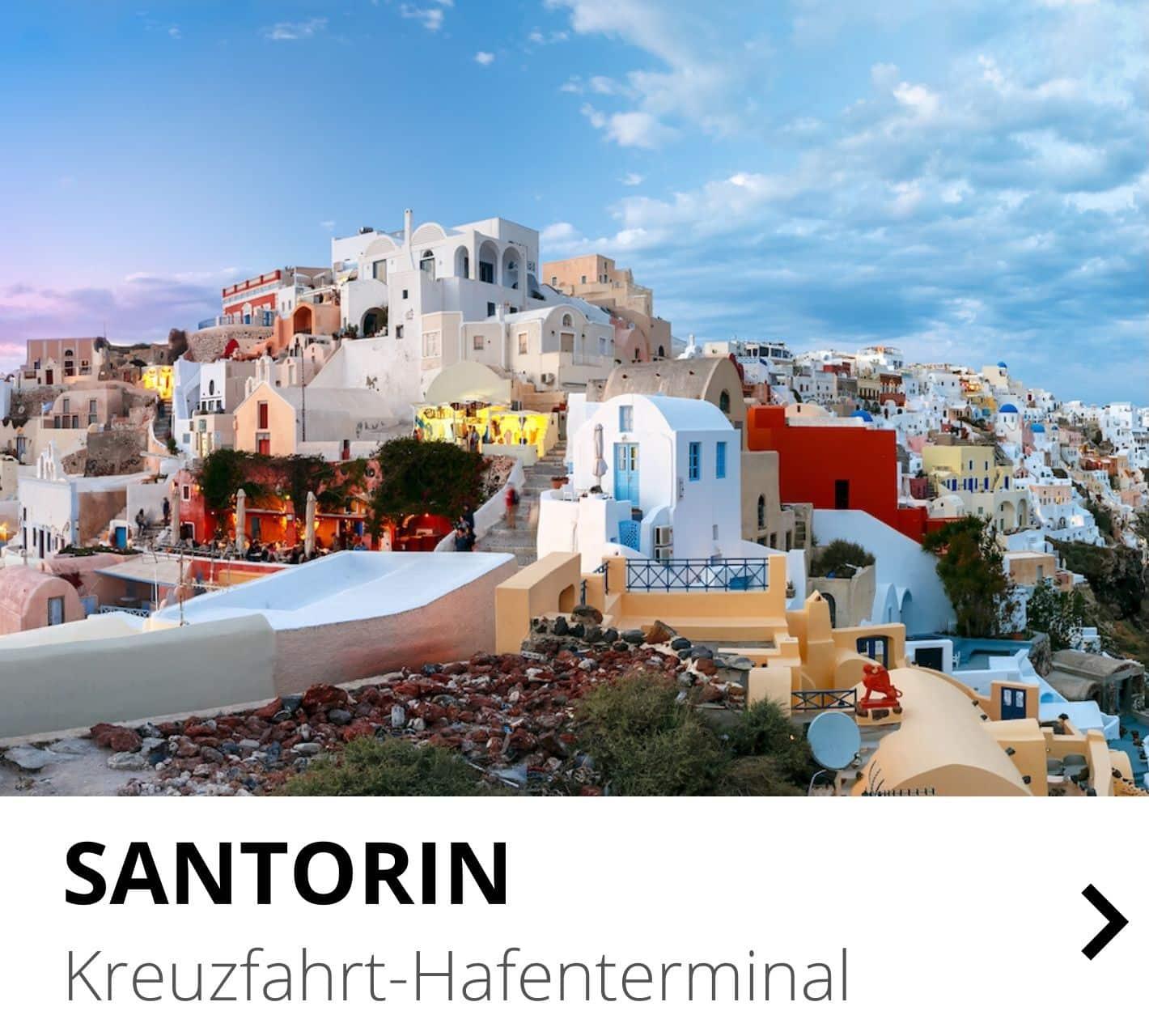 Santorin Kreuzfahrt-Hafenterminal